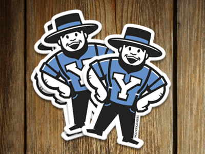 stickers creative south vintage retro yoder amish logo stickers