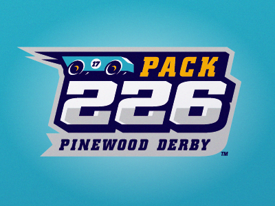 BSA Pinewood Derby 2017 vector vintage retro derby pinewood hot rod car logo