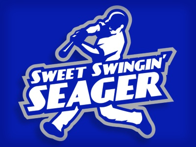 seager helmet bat sports illustration logo blue dodgers baseball