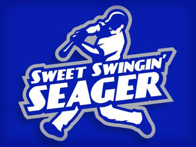 seager helmet bat sports illustration logo blue dodgers baseball