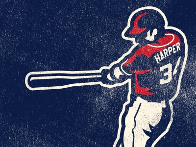 harper vintage retro harper bat washington nationals batter baseball