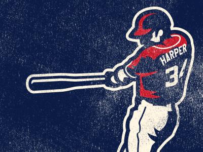 harper vintage retro harper bat washington nationals batter baseball