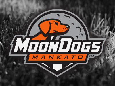moondogs moon moondogs dog vector logo athletics sports baseball