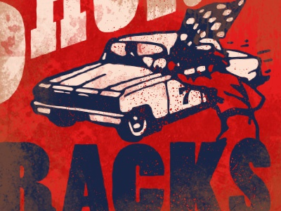 short track nascar car apparel texture distressed vintage retro racing