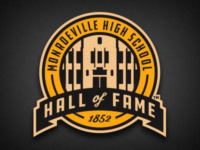 mhs hall of fame retro banner roundel vector logo