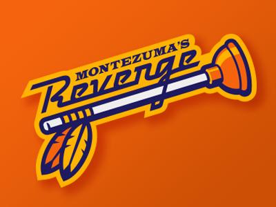 montezuma's revenge vector montezuma softball baseball plunger feathers sports logo