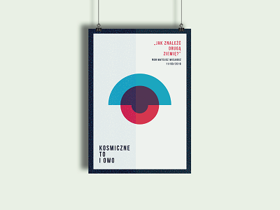 Promotional poster minimal color star cosmos galaxy planetarium