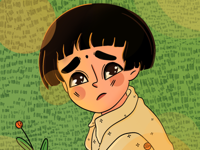 Setsuko - Grave of the fireflies sketch designer doodles character animation character characterdesign emotion animation ghibli japanese art anime girl cute photoshop minimal art illustration design vector dribbble