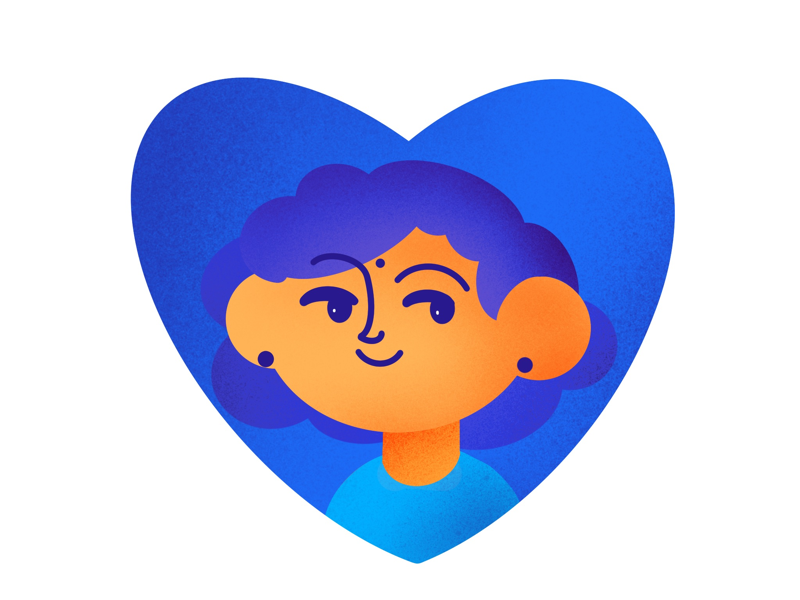 Expression shot dribbble graphic procreate girl cute art expression