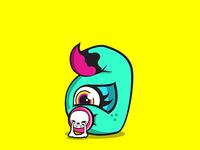 Letter Monster Illustration - a