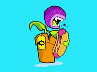 Letter Monster Illustration - vi