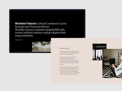Portfolio Design - Michaela Fiasova animation portfolio site uidesign ux uiux typography ui minimal brand identity agency branding design agency brand agency portfolio website web design
