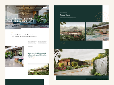 Art Villas – Website Concept branding design hospitality luxury design design ux website concept web concept web design webdesign interfacedesign typography agency website website uiux ui agency branding agency
