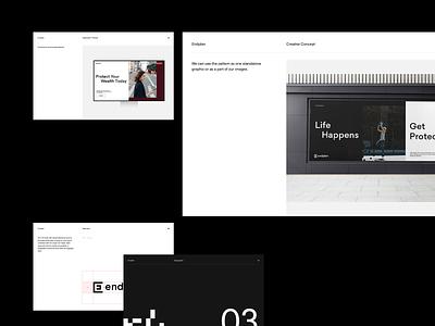 Endplan - Guidelines startup branding brand identity brand agency design minimal branding