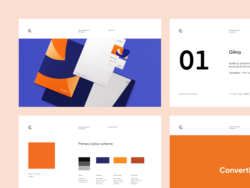 ConvertFox  - Branding manual colors typography fox modern minimal brand manual branding