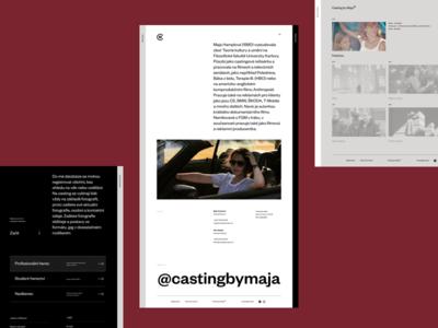 Casting By Maja – Portfolio website