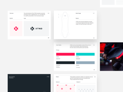 XTND Brand Guidelines board startup innovative minimal simple branding guidelines brand xtnd