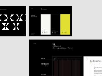 XLAB Brand Guidelines guide brand agency startup branding identitydesign brandguide guidelines simple logo identity branding brand minimal