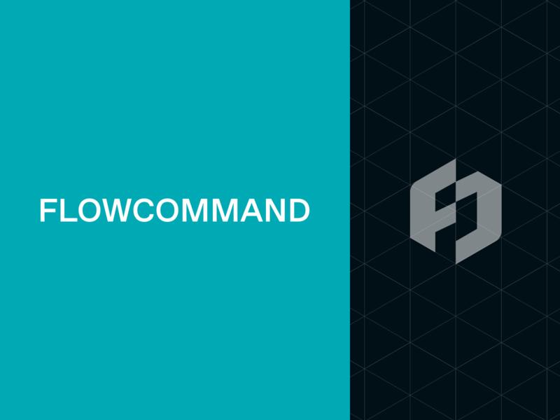 Flowcommand Logo Details logodesign startup logo branding identity brand designer geometrical tech logo startup branding technology b2b logo simple identity design branding minimal