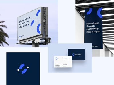 Semoss – Brand Exploration 01 brand agency startup tech data analytics brand identity design minimal branding concept analytics data identity brand identity brand design branding