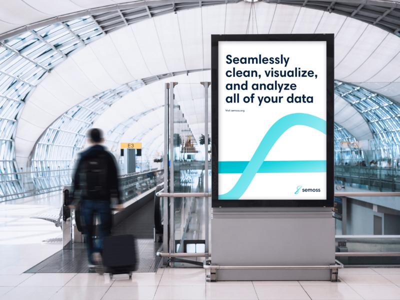 Semoss – Brand Exploration 02 fluid design flexible data analytics minimal brand agency branding concept startup branding tech data logo identity branding brand identity analytics