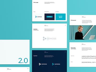 Semoss – Brand Guidelines minimal branding design startup branding logo branding agency brand identity brand design tech guidelines branding brand analytics
