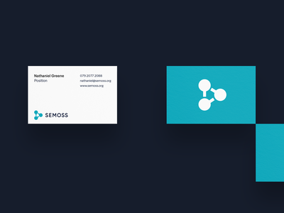 Semoss – Stationery Design brand agency tech logo design branding and identity identity design brand identity branding design startup branding analytic analytics semoss minimal branding