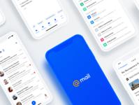 Mail App Redesign compose inbox illustration art play digital promo mobile ui mobile concept white blue email email design mail app redesign application app design app ui design
