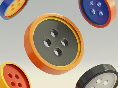 Buttons 3d buttons blender b3d