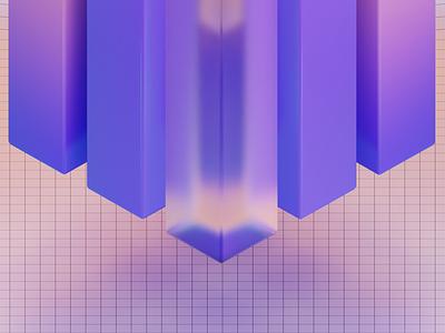 Pillars banner graphic design render 3d blender b3d