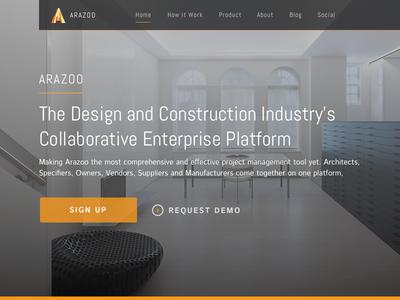 Arazoo Landing page