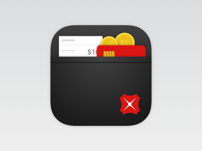 Wallet Icon wallet icons coins bank receipt cards ios mobile atm currency