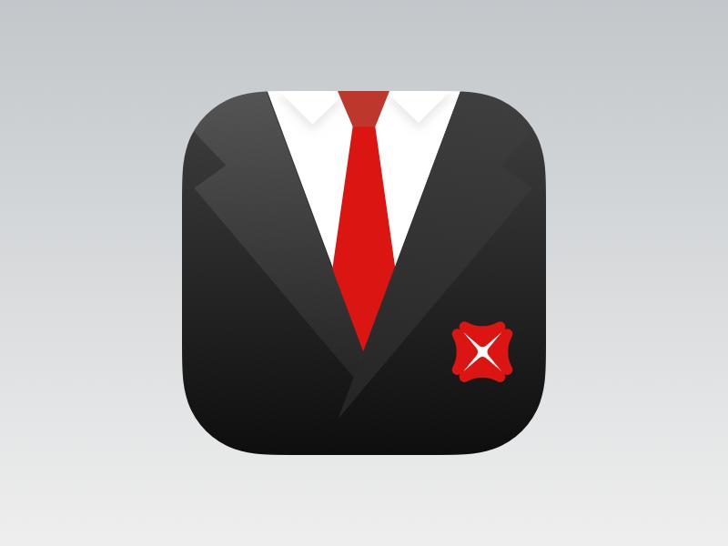 Business Class Icon business class icon vest ios mobile bank tie clover finance suite