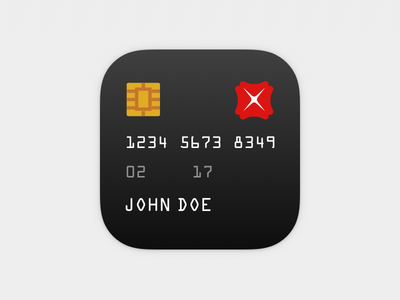 Quick Credit/Credit Card credit card icon bank chip singapore ios flat