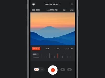Fuji Film Camera Remote  redesign aperture shutter mobile ux ui ios app remote camera fuji film