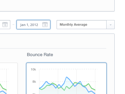 Graphs calendar icon simple app web dashboard white minimalist statistic stat graph arrow index ui gui analytics ux designer drop down date duration visit menubar navigation clear store profile button sidebar