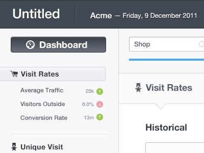 Metric Detail Sidebar app web button grey timeline profile store clear navigation menubar sidebar duration icon date drop down designer ux analytics gui ui index graph stat statistic minimalist white dashboard