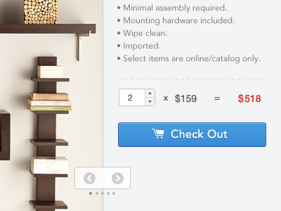 Index Page checkout count button number price tag navigation next prev bullet chart ecommerce white web app ui ux minimalist minimal sidebar icon