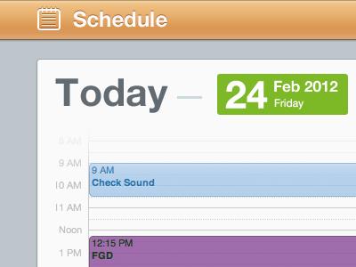 Schedule bar2