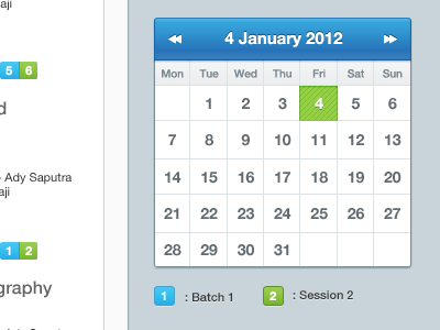 Schedule calendar dark