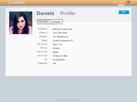 Profile page full