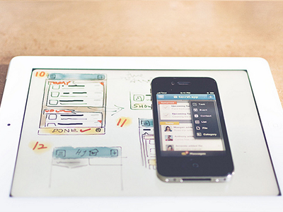 Sketch & Mockup iphone app ui ux visual clean clear tasks management gui check mark list navigation header to do home categories modern ios activity category contact task event popover wireframe sketch paper