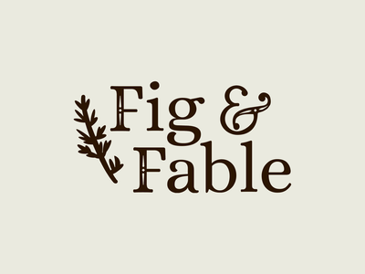 Fig & Fable fantasy fable leaf plant wordmark logotype logo branding design branding