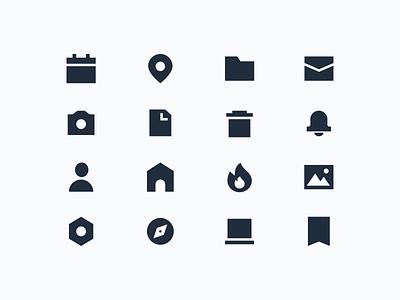 thick icons ui design vector iconography icon set icon