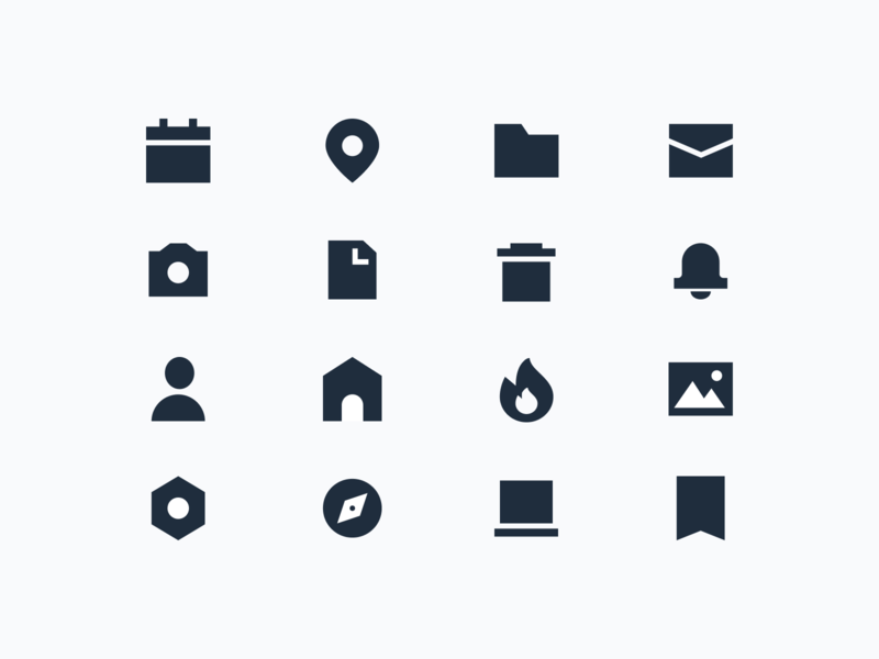 thick icons ui design vector iconography icon set icon