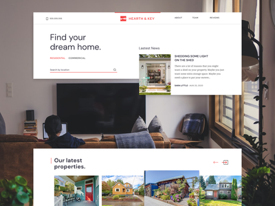 Real Estate Website figma minimal webdesign magazine landing page website realty rentals real estate property apartment house home