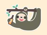 Happy Sloth Sticker
