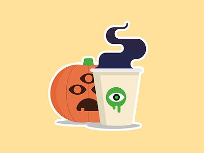 Dubious Latte illustration sticker mule sticker starbucks coffee latte pumpkin