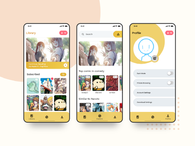Indie Comic Reader manga comics interface mobile ux ui app