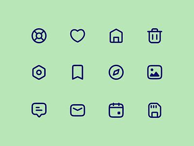 Icon Set icongraphy stroke set linear icons lineart icons pack icons set icons